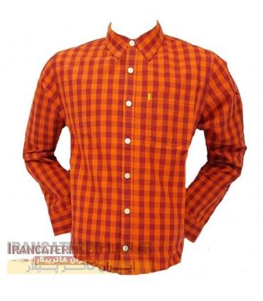 پیراهن مردانه چهارخانه کاترپیلار کد Caterpillar 402654