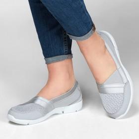 کفش پیاده روی بسیار سبک وزن زنانه اسکچرز Skechers 100026/ltgy